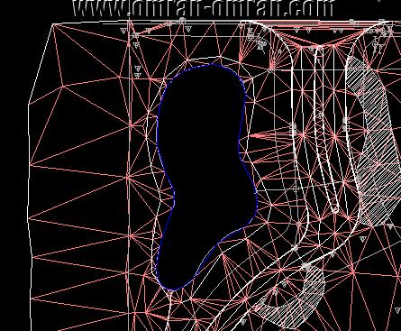 خطوط سورفیس در ناحیه ی تعریف شده Boundry مخفی میشود.
