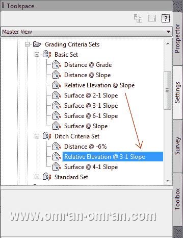 ضابطه ی جدید را با نشانگر ماوس گرفته و به لیست Ditch Criteria Set بکشید.(Drag کنید)