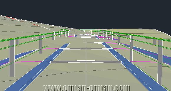 پس از استفاده از دستور Drive مسیر را به صورت انیمیشن مشاهده خواهید کرد.