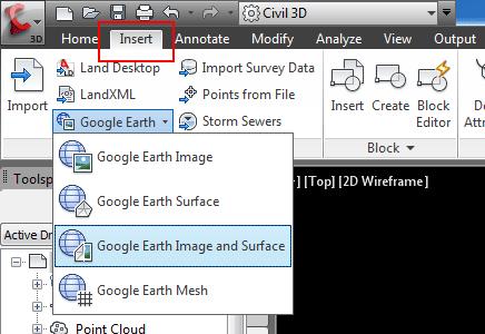 Import google earth