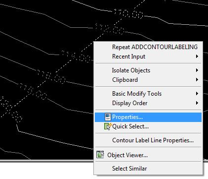 خطی که رسم کردید را انتخاب(Select) کنید و روی آن کلیک راست کرده و Properties را انتخاب کنید.