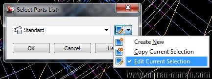روی Edit current Selection کلیک کنید