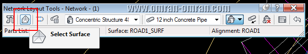 روی Select Surface کلیک کنید