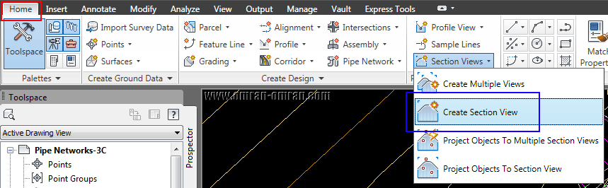 create Section View