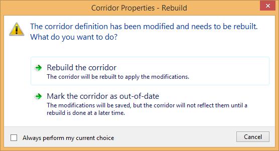 rebuild the corridor
