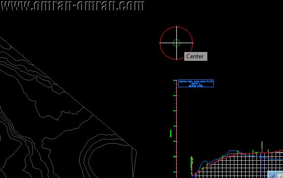 در مرکز دایره کلیک کنید تا منحنی بروکنر رسم شود.