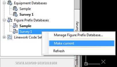 جایگزین کردن Survey 1 برای Figure Prefix