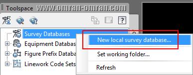 ساخت یک Survey Database